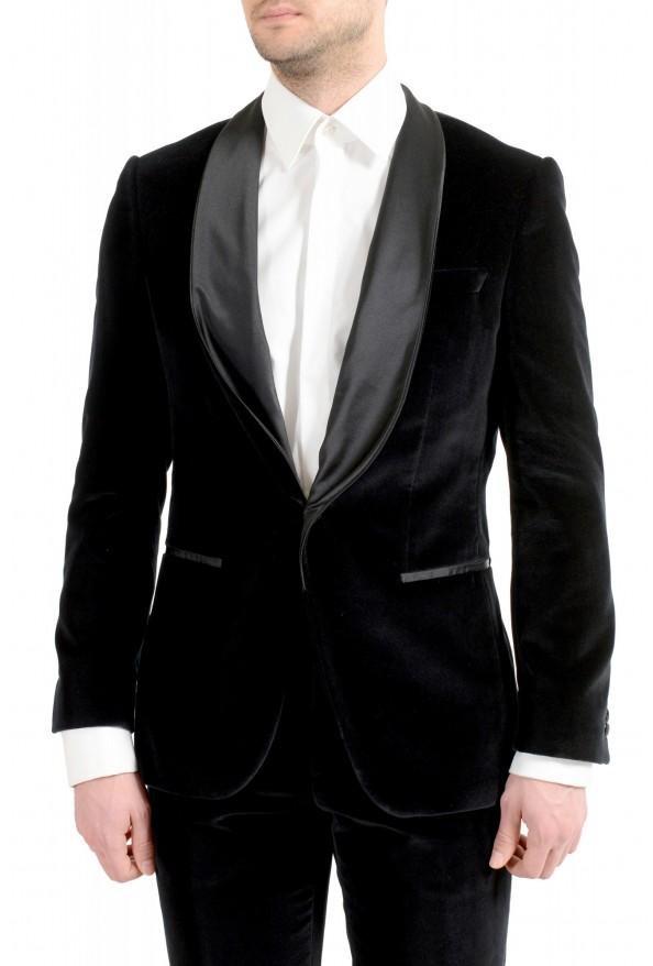 "Hugo Boss Men's ""Henrey1/Glow1"" Slim Fit Black Velour Tuxedo Suit: Picture 4"