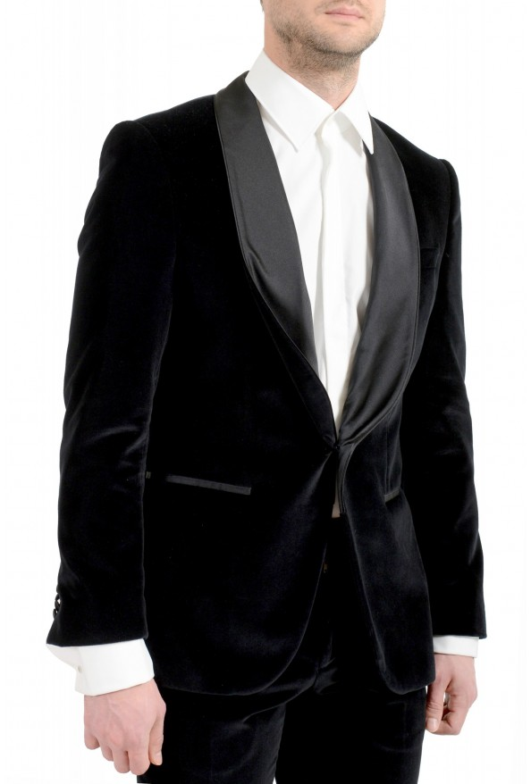 "Hugo Boss Men's ""Henrey1/Glow1"" Slim Fit Black Velour Tuxedo Suit: Picture 5"