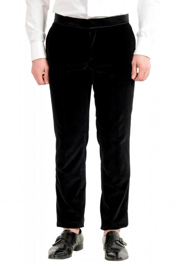 "Hugo Boss Men's ""Henrey1/Glow1"" Slim Fit Black Velour Tuxedo Suit: Picture 8"