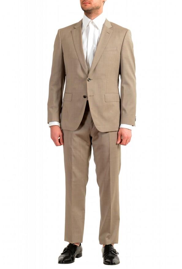 """Hugo Boss Men's """"Huge6/Genius5"""" Slim Fit 100% Wool Beige Two Button Suit"""