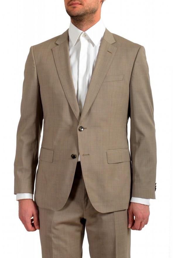 """Hugo Boss Men's """"Huge6/Genius5"""" Slim Fit 100% Wool Beige Two Button Suit: Picture 4"""