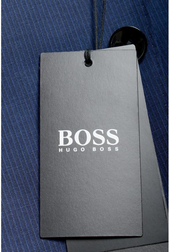 "Hugo Boss Men's ""Huge6/Genius5"" Blue Slim Fit 100% Wool Striped Two Button Suit: Picture 11"