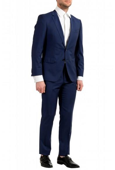 "Hugo Boss Men's ""Huge6/Genius5"" Blue Slim Fit 100% Wool Striped Two Button Suit: Picture 2"