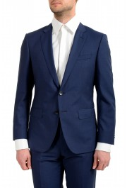 "Hugo Boss Men's ""Huge6/Genius5"" Blue Slim Fit 100% Wool Striped Two Button Suit: Picture 4"