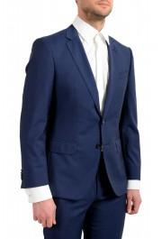 "Hugo Boss Men's ""Huge6/Genius5"" Blue Slim Fit 100% Wool Striped Two Button Suit: Picture 5"