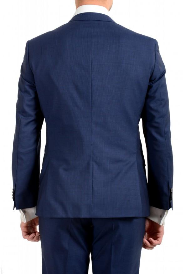 "Hugo Boss Men's ""Huge6/Genius5"" Blue Slim Fit 100% Wool Striped Two Button Suit: Picture 6"