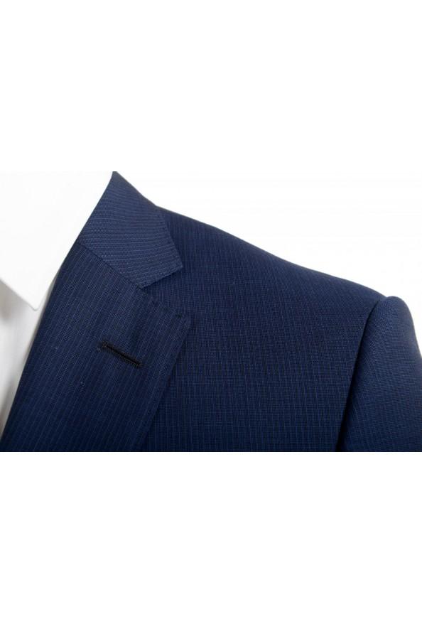 "Hugo Boss Men's ""Huge6/Genius5"" Blue Slim Fit 100% Wool Striped Two Button Suit: Picture 7"