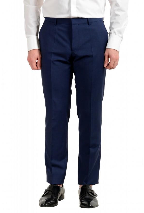 "Hugo Boss Men's ""Huge6/Genius5"" Blue Slim Fit 100% Wool Striped Two Button Suit: Picture 8"