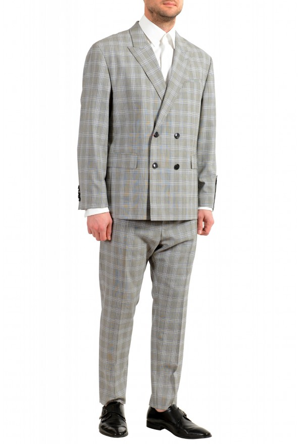 """Hugo Boss Men's """"Ilan/Farlys192F1"""" 100% Wool Plaid Double Breasted Suit: Picture 2"""