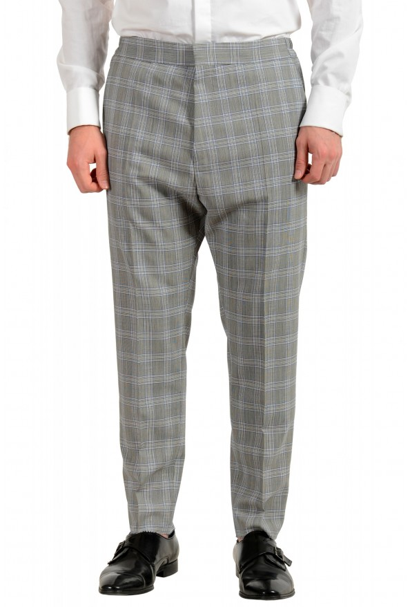 """Hugo Boss Men's """"Ilan/Farlys192F1"""" 100% Wool Plaid Double Breasted Suit: Picture 8"""