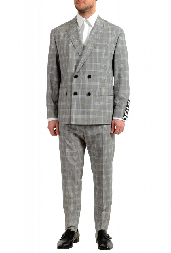 """Hugo Boss Men's """"Ilan/Farlys192F1"""" 100% Wool Plaid Double Breasted Suit"""