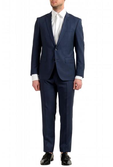 "Hugo Boss Men's ""Huge6/Genius5"" Slim Fit 100% Wool Blue Two Button Suit"