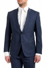 "Hugo Boss Men's ""Huge6/Genius5"" Slim Fit 100% Wool Blue Two Button Suit: Picture 4"