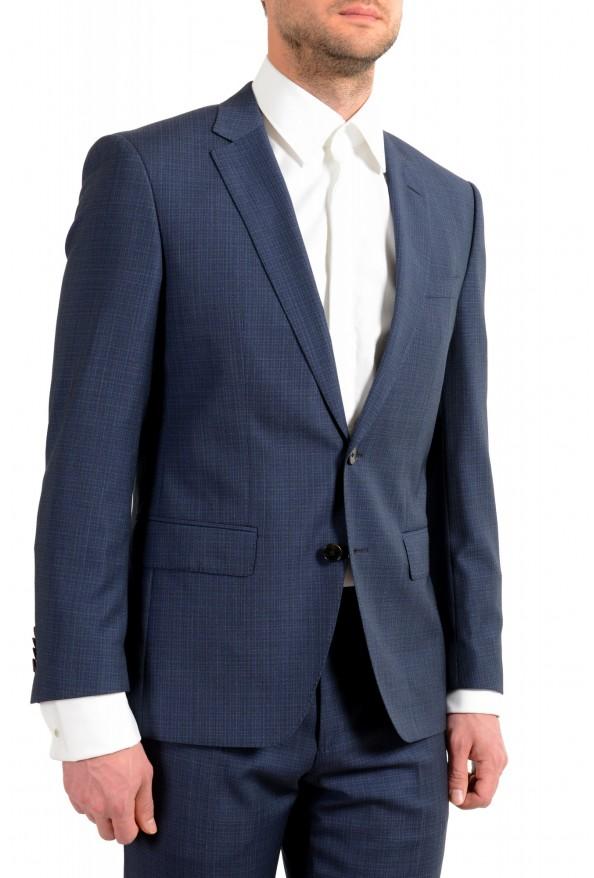 "Hugo Boss Men's ""Huge6/Genius5"" Slim Fit 100% Wool Blue Two Button Suit: Picture 5"