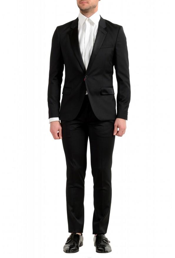 Hugo Boss Men's Arti/Gesten184E1 Extra Slim Fit 100% Wool Black One Button Suit
