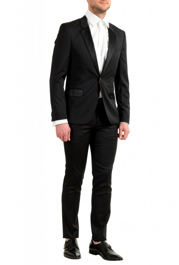 Hugo Boss Men's Arti/Gesten184E1 Extra Slim Fit 100% Wool Black One Button Suit: Picture 3