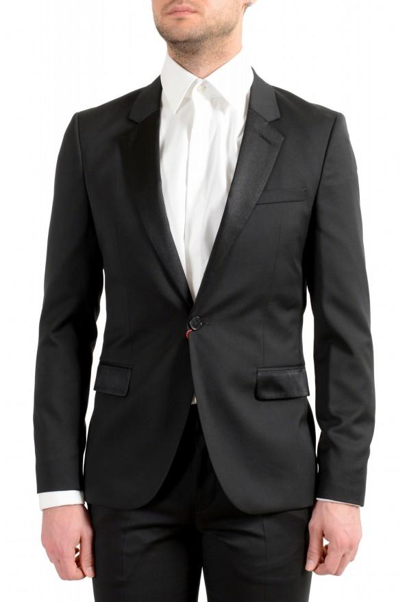 Hugo Boss Men's Arti/Gesten184E1 Extra Slim Fit 100% Wool Black One Button Suit: Picture 5