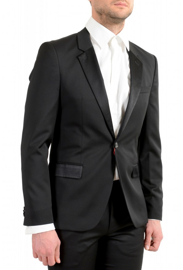 Hugo Boss Men's Arti/Gesten184E1 Extra Slim Fit 100% Wool Black One Button Suit: Picture 6