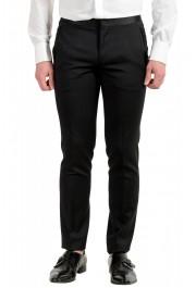 Hugo Boss Men's Arti/Gesten184E1 Extra Slim Fit 100% Wool Black One Button Suit: Picture 9