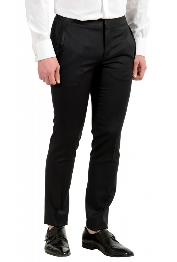 Hugo Boss Men's Arti/Gesten184E1 Extra Slim Fit 100% Wool Black One Button Suit: Picture 10