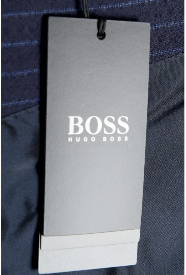 """Hugo Boss Men's """"Helford/Gender3"""" Slim Fit Blue Striped Wool Two Button Suit: Picture 11"""