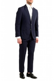 """Hugo Boss Men's """"Helford/Gender3"""" Slim Fit Blue Striped Wool Two Button Suit: Picture 2"""