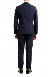 """Hugo Boss Men's """"Helford/Gender3"""" Slim Fit Blue Striped Wool Two Button Suit: Picture 3"""