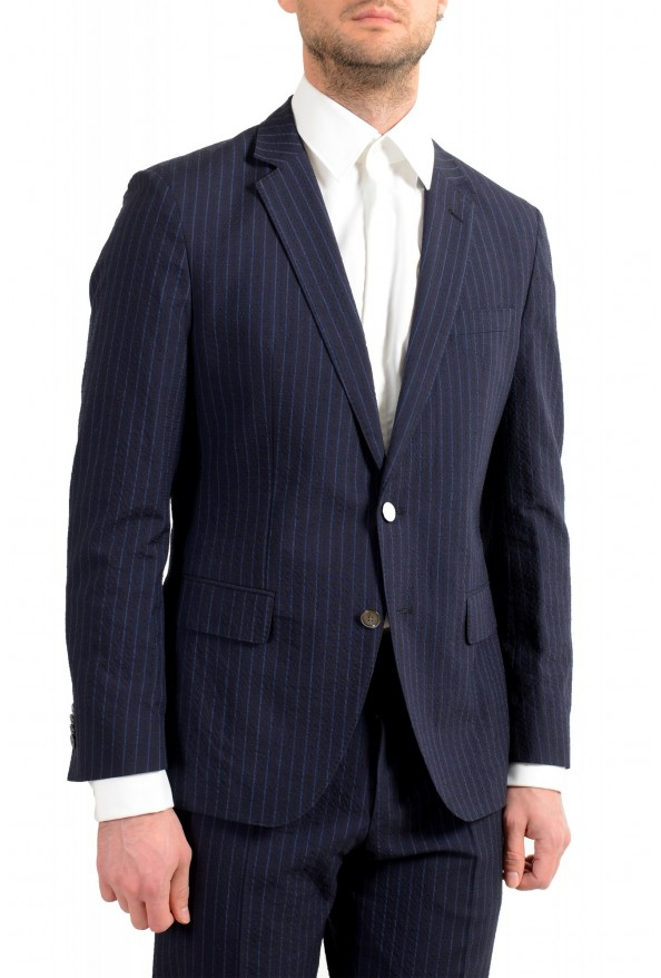 """Hugo Boss Men's """"Helford/Gender3"""" Slim Fit Blue Striped Wool Two Button Suit: Picture 5"""