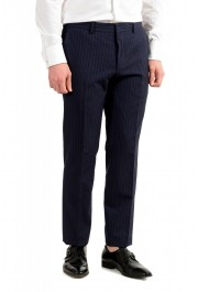 """Hugo Boss Men's """"Helford/Gender3"""" Slim Fit Blue Striped Wool Two Button Suit: Picture 9"""