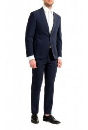 """Hugo Boss Men's """"Nalton1/Ben2"""" Slim Fit Blue Wool Plaid Two Button Suit: Picture 2"""