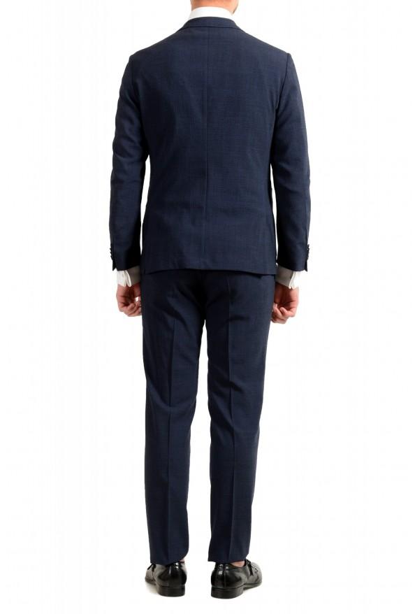 """Hugo Boss Men's """"Nalton1/Ben2"""" Slim Fit Blue Wool Plaid Two Button Suit: Picture 3"""