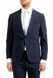 """Hugo Boss Men's """"Nalton1/Ben2"""" Slim Fit Blue Wool Plaid Two Button Suit: Picture 4"""