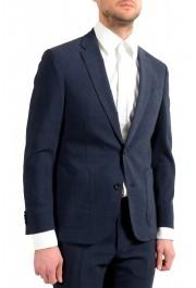 """Hugo Boss Men's """"Nalton1/Ben2"""" Slim Fit Blue Wool Plaid Two Button Suit: Picture 5"""