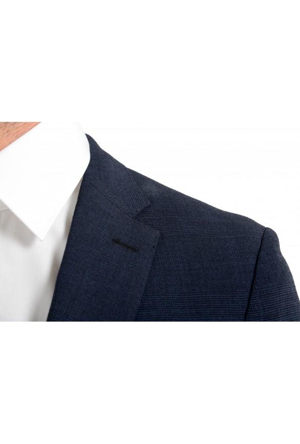 """Hugo Boss Men's """"Nalton1/Ben2"""" Slim Fit Blue Wool Plaid Two Button Suit: Picture 7"""
