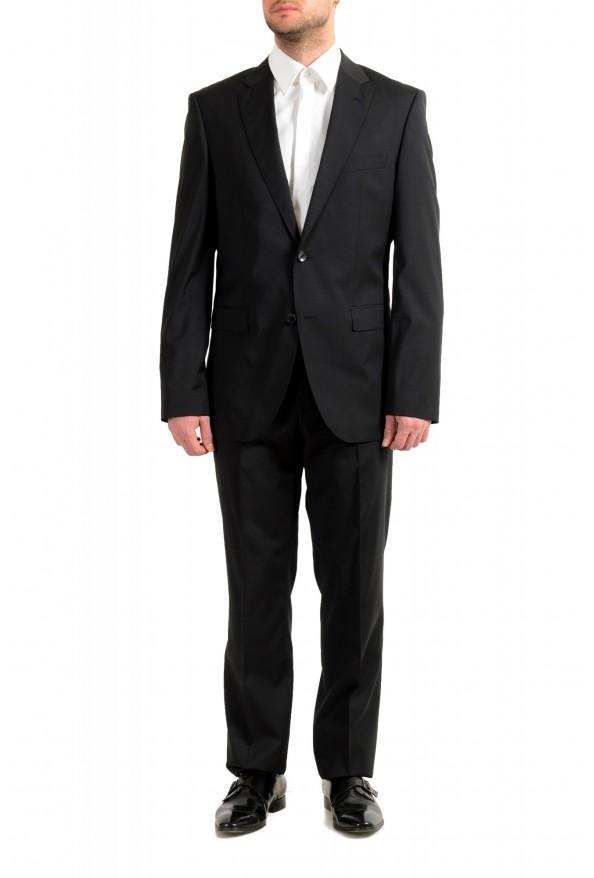 "Hugo Boss Men's ""Phoenix/Madisen"" Comfort Fit 100% Wool Black Two Button Suit"