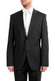 "Hugo Boss Men's ""Phoenix/Madisen"" Comfort Fit 100% Wool Black Two Button Suit: Picture 4"