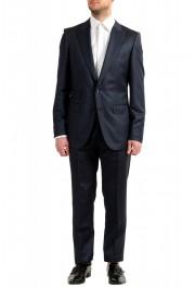"Hugo Boss Men's ""T-Henders-Gorden"" Dark Blue Silk Wool Two Button Suit"