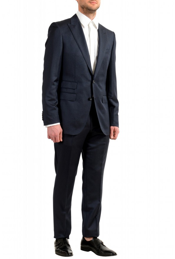 "Hugo Boss Men's ""T-Henders-Gorden"" Dark Blue Silk Wool Two Button Suit: Picture 2"
