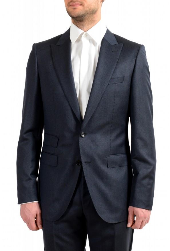 "Hugo Boss Men's ""T-Henders-Gorden"" Dark Blue Silk Wool Two Button Suit: Picture 4"