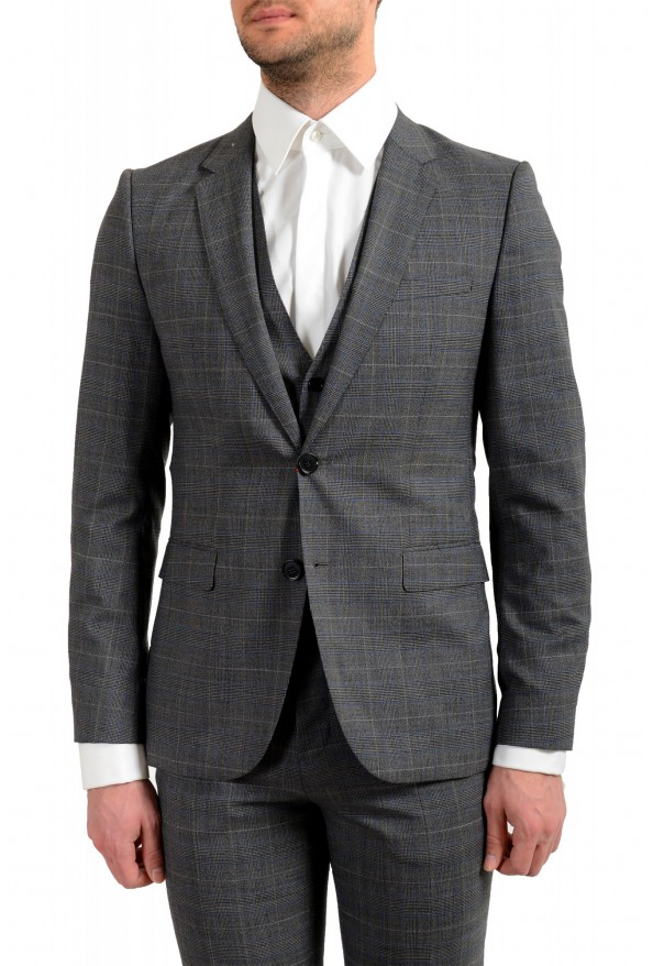 """Hugo Boss Men's """"Astian/Hets182V1"""" Extra Slim Fit 100% Wool Three Piece Suit: Picture 4"""