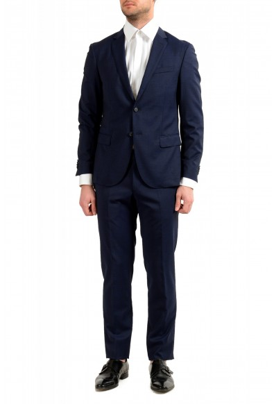 "Hugo Boss Men's ""Neight1/Byte1"" Slim Fit Wool Blue Plaid Two Button Suit"
