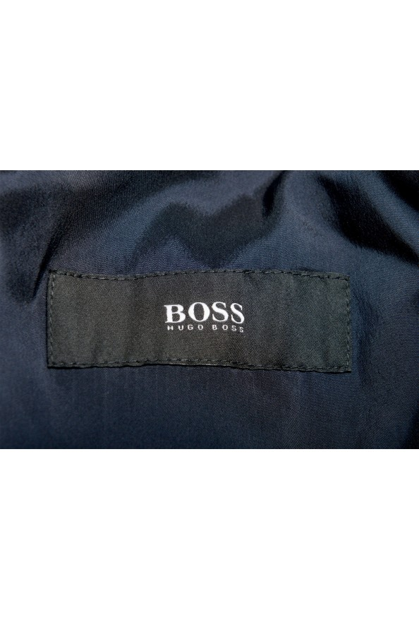 """Hugo Boss Men's """"Neight1/Byte1"""" Slim Fit Wool Blue Plaid Two Button Suit: Picture 12"""