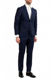 """Hugo Boss Men's """"Neight1/Byte1"""" Slim Fit Wool Blue Plaid Two Button Suit: Picture 2"""