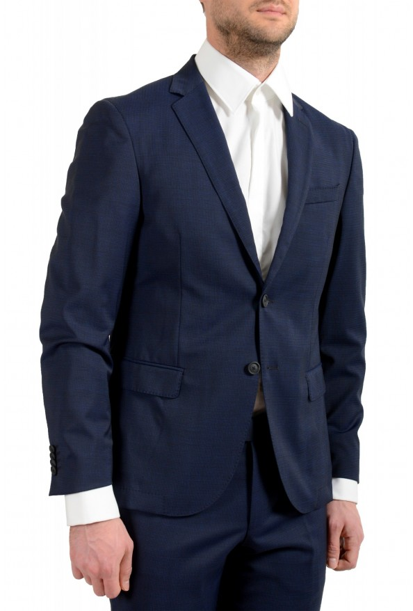 """Hugo Boss Men's """"Neight1/Byte1"""" Slim Fit Wool Blue Plaid Two Button Suit: Picture 5"""