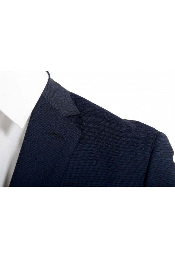 """Hugo Boss Men's """"Neight1/Byte1"""" Slim Fit Wool Blue Plaid Two Button Suit: Picture 7"""