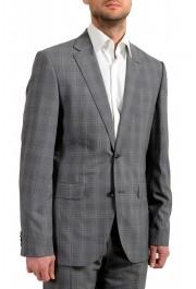 """Hugo Boss Men's """"Jeckson/Lenon1"""" Regular Fit 100% Wool Plaid Two Button Suit: Picture 5"""