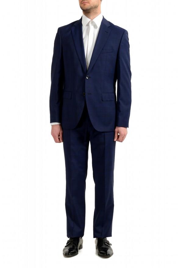 """Hugo Boss Men's """"Johnstons5/Lenon1"""" Regular Fit 100% Wool Blue Two Button Suit"""