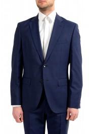 "Hugo Boss Men's ""Johnstons5/Lenon1"" Regular Fit 100% Wool Blue Two Button Suit: Picture 4"