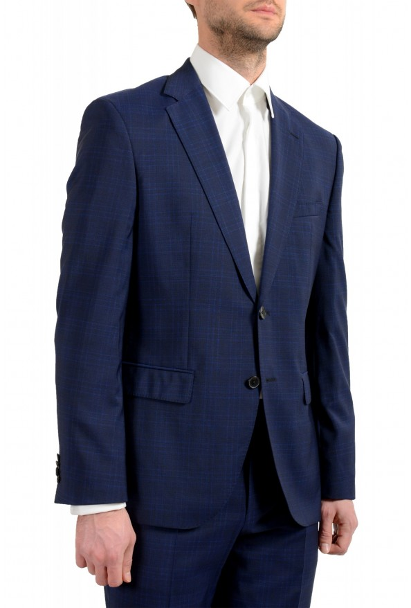 "Hugo Boss Men's ""Johnstons5/Lenon1"" Regular Fit 100% Wool Blue Two Button Suit: Picture 5"