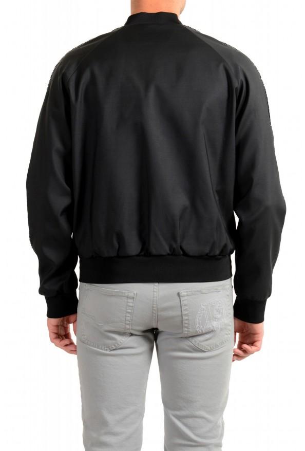Dsquared2 Men's Black Wool Silk Embellished Full Zip Windbreaker Jacket: Picture 3
